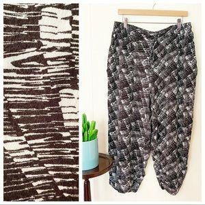 City Chic Brushstroke Monochrome Lounge Pants